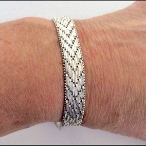 Jewelry - Sterling Herringbone Bracelet